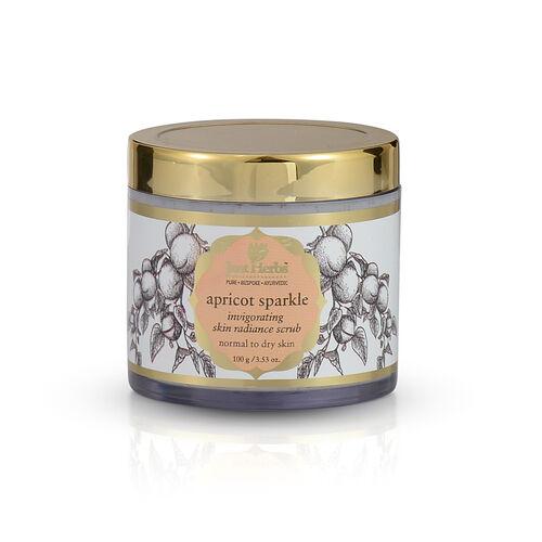 (Option 2) Just Herbs Apricot Sparkle Invigorating Skin Radiance Scrub (100g)