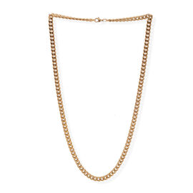 Close Out Deal 9K Y Gold Faceted Diamond Cut Curb Chain (Size 30), Gold Wt 13.88 Gms.