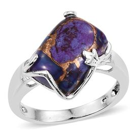 Mojave Purple Turquoise (Cush) Solitaire Ring in Sterling Silver 6.000 Ct.