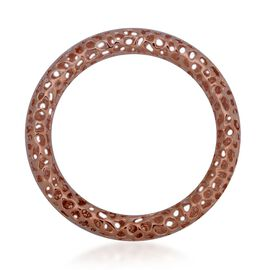 RACHEL GALLEY Rose Gold Overlay Sterling Silver Allegro Bangle (Size 7.75 / Medium), Silver wt 47.00 Gms.