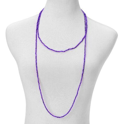 Purple Agate Enhanced Necklace (Size 60) 94.000 Ct.