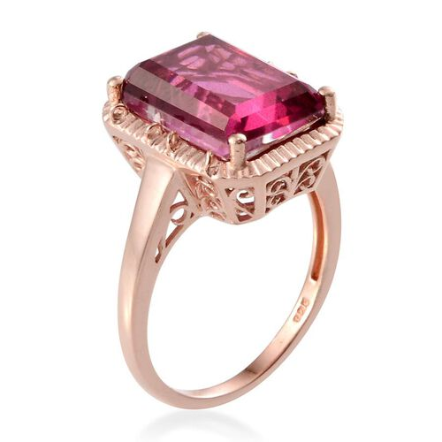 Radiant Orchid Quartz (Oct) Solitaire Ring in Rose Gold Overlay Sterling Silver 8.500 Ct.
