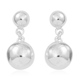 Thai Sterling Silver Ball Earrings (with Push Back), Silver wt 5.30 Gms.