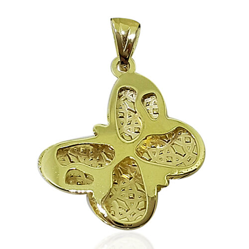 Limited Edition- Designer Inspired 9K Y Gold Butterfly Pendant