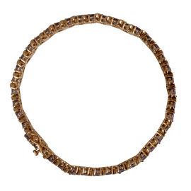 9K Y Gold Tanzanite (Rnd) Bracelet (Size 7) 8.500 Ct.