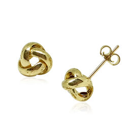 9K Y Gold Knot Earrings (with Push Back), Gold wt 1.01 Gms.