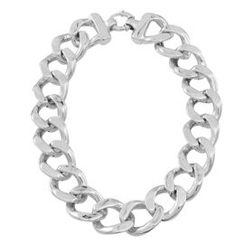 Limited Available-Sterling Silver Chunky Curb Necklace (Size 20), Silver wt 116.40 Gms.