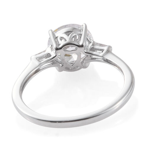 9K White Gold Ring Made with SWAROVSKI ZIRCONIA