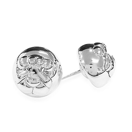 Thai Sterling Silver Stud Earrings (with Push Back), Silver wt 4.10 Gms.