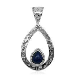 Royal Bali Collection Lapis Lazuli (Pear) Solitaire Pendant in Sterling Silver