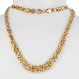 Show Stopper 9K Y Gold Byzantine Necklace (Size 20), Gold wt 13.00 Gms.