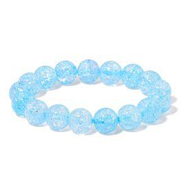 Simulated Blue Topaz Stretchable Bracelet (Size 7)