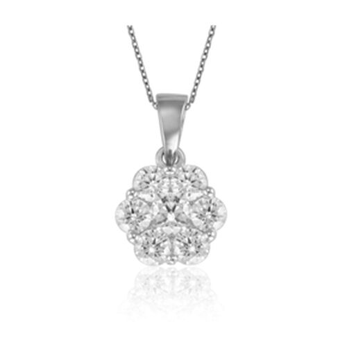 RHAPSODY 950 Platinum IGI Certified Diamond (Rnd) (VS / E-F) Pendant With Chain 0.500 Ct.