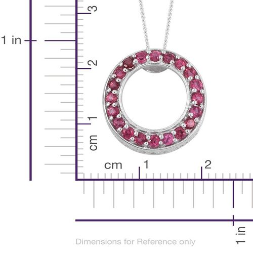 Mahenge Spinel (Rnd) Circle of Life Pendant With Chain in Platinum Overlay Sterling Silver 0.850 Ct.