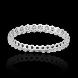 ILIANA 18K W Gold IGI Certified Diamond (Rnd) (SI/ G-H) Full Eternity Ring 0.500 Ct.