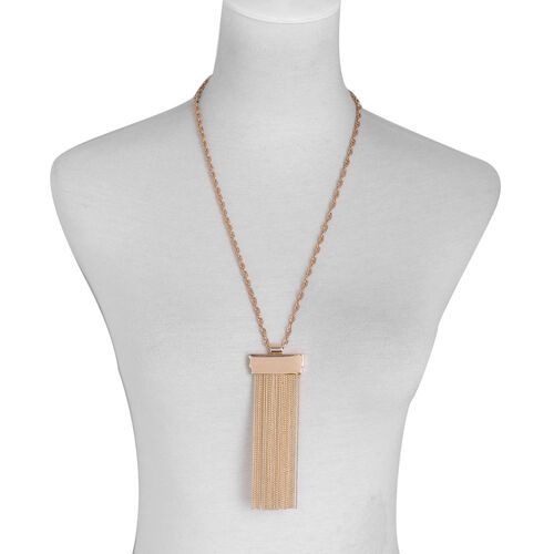 Tassel Necklace (Size 26 with Extender) in Gold Tone