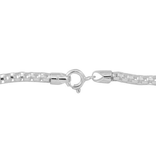 Thai Sterling Silver Bracelet (Size 8), Silver wt 4.96 Gms.