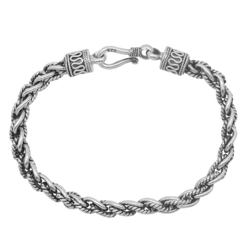 Royal Bali Collection Sterling Silver Bracelet (Size 7.5), Silver wt 21.43 Gms.