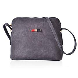 Lipstick Design Grey Colour Handbag (22x18x8.5 Cm)