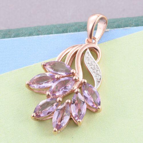Rose De France Amethyst (Mrq) Pendant in Rose Gold Overlay Sterling Silver 2.500 Ct.