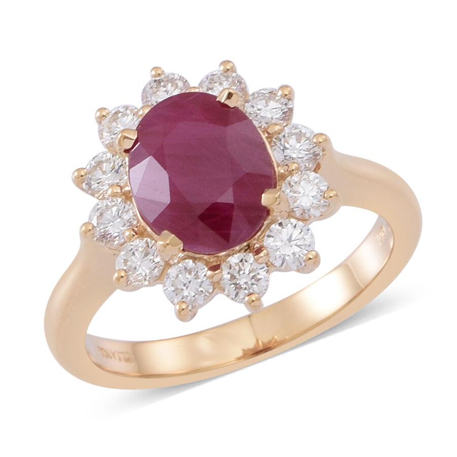 Iliana 18k Y Gold Rare Size Aaaa Burmese Ruby Ovl 3 00 Ct