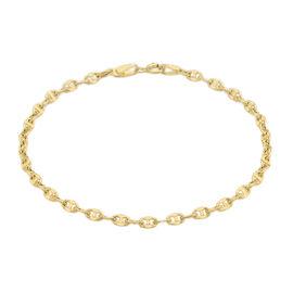 Close Out Deal 9K Yellow Gold Anchor Link Bracelet (Size 7.25), Gold wt 1.00 Gms.