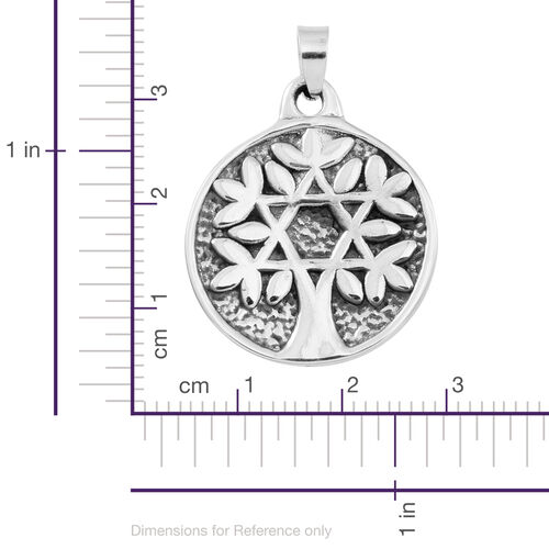 Statement Collection Sterling Silver Tree Pendant, Silver wt 3.70 Gms.