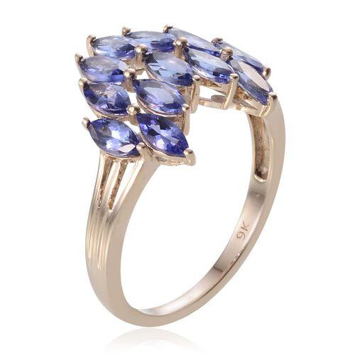 9K Y Gold Tanzanite (Mrq) Ring 3.000 Ct.