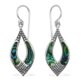 (Option 3) Royal Bali Collection Abalone Shell Hook Earrings in Sterling Silver 8.000 Ct.