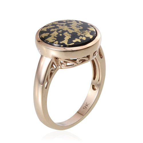 9K Y Gold Goldenite (Rnd) Solitaire Ring 7.000 Ct.
