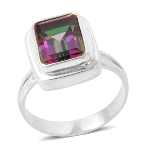 Northern Lights Mystic Topaz (Oct) Ring in Sterling Silver 5.580 Ct.