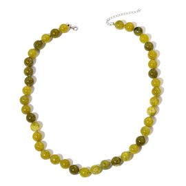 Lemon Serpentine Necklace (Size 18 with 2 inch Extender) in Rhodium Plated Sterling Silver 272.500 Ct.