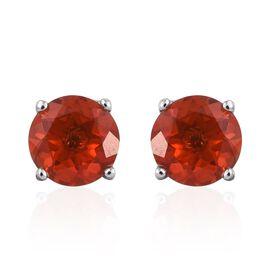 RHAPSODY 950 Platinum Jalisco Fire Opal (Rnd) Stud Earrings (with Screw Back) 1.000 Ct.