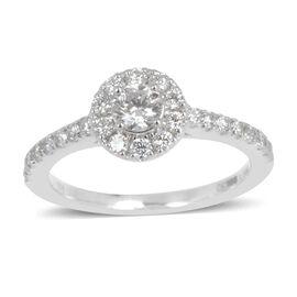 ILIANA 18K W Gold IGI Certified Diamond (Rnd 0.31 Ct) (SI/ G-H) Ring 0.750 Ct.