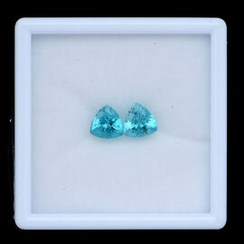 (Set of 2) Paraiba Apatite (Trl 8 mm Faceted 3A) 3.420 Ct.