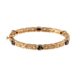 Goldenite (Ovl) Bangle (Size 7.5) in 14K Gold Overlay Sterling Silver 3.750 Ct.