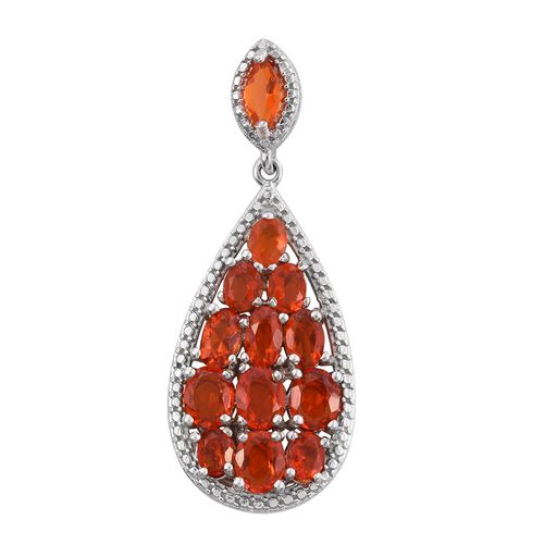 Jalisco Fire Opal (Ovl) Pendant in Platinum Overlay Sterling Silver 2.000 Ct.