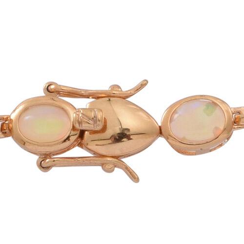 Ethiopian Welo Opal (Ovl) Bracelet (Size 7.5) in 14K Gold Overlay Sterling Silver 10.000 Ct.