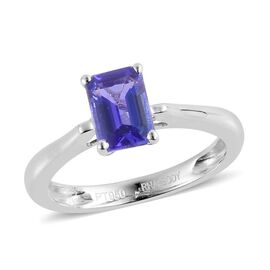 RHAPSODY 950 Platinum AAAA Tanzanite (Oct) Solitaire Ring 1.000 Ct.
