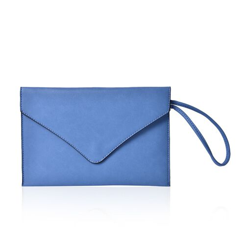 New Season YUAN COLLECTION Sky Blue Envelope Clutch/ Travel Pouch (Size 25.5x17 Cm)