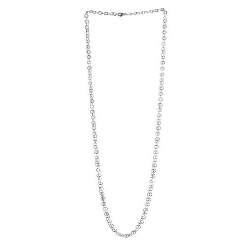 Sterling Silver Open Circle Chain (Size 36), Silver wt 9.60 Gms.