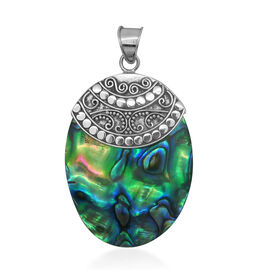 Royal Bali Collection Abalone Shell (Ovl) Pendant in Sterling Silver 27.760 Ct.