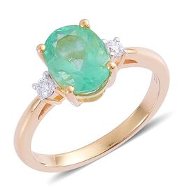 14K Y Gold AAA Boyaca Colombian Emerald (Oct 2.00 Ct), Diamond Ring 2.150 Ct.
