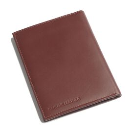Genuine Leather Burgundy Colour RFID Blocker Passport Wallet (Size 15x11 Cm)