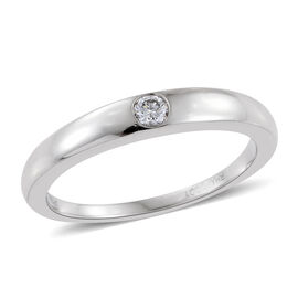 RHAPSODY 950 Platinum 0.10 Carat IGI Certified Diamond VS E-F Solitaire Band Ring