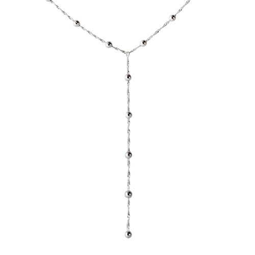 Limited Avaiable Vicenza Collection Sterling Silver Lariat Necklace (Size 18), Silver wt. 5.59 Gms.