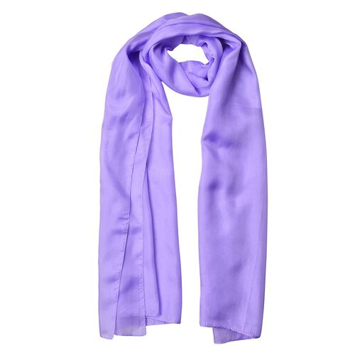 Pantone Collection - 100% Mulberry Silk Lilac Colour Scarf (Size 175X90 Cm)