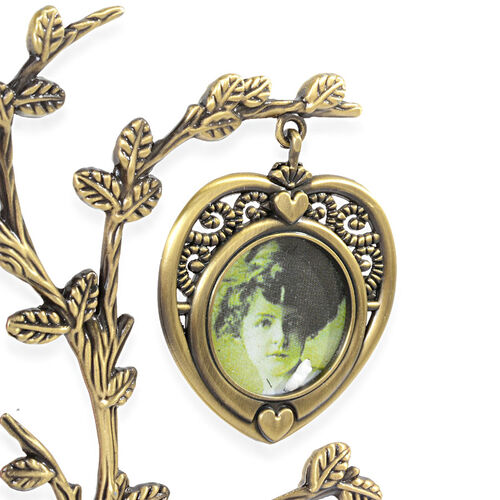 Family Tree Picture Frame in Gold Tone