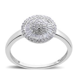 9K White Gold SGL Certified Diamond (Rnd) (I3 G-H) Ring 0.500 Ct.