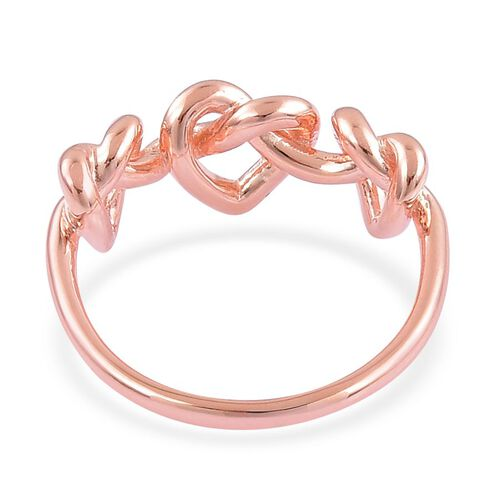 LucyQ Triple Entwine Ring in Rose Gold Overlay Sterling Silver 3.40 Gms.